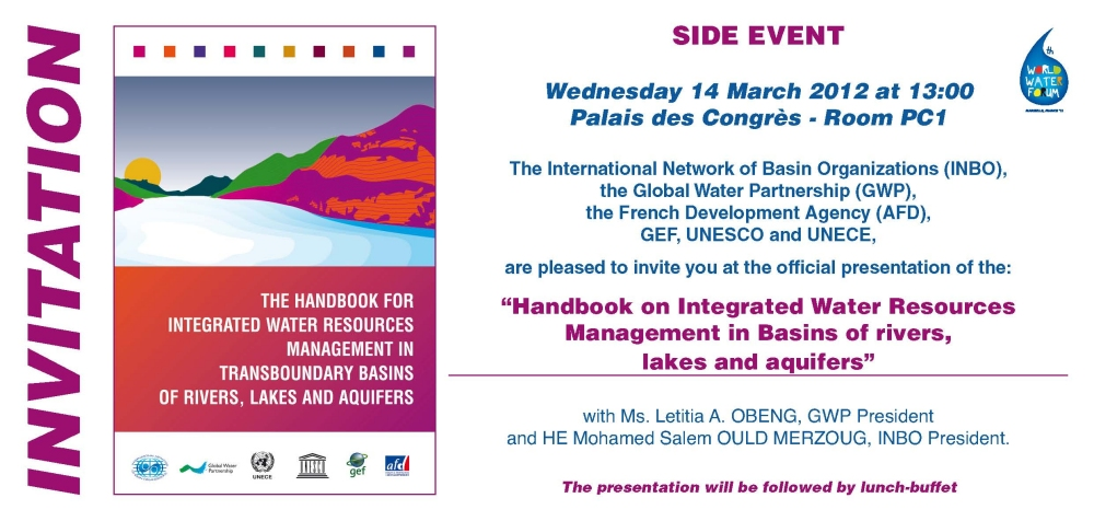 Handbook on Transboundary basin management - Invitation at the World Water Forum